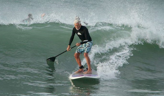 Bob Nichols dad surfing at 90